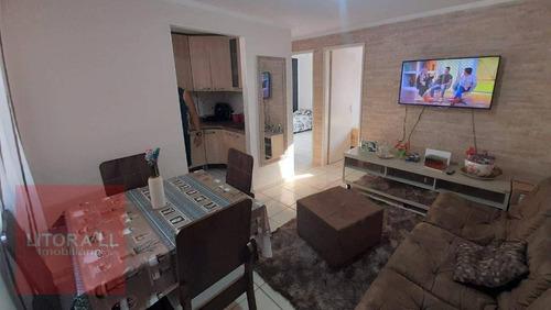 Imagem 1 de 12 de Apartamento Com 2 Dormitórios À Venda Por R$ 70.000,00 - Jardim Sabaúna - Itanhaém/sp - Ap0347