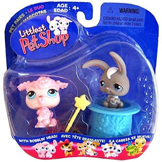 Littlest Pet Shop Pet Pairs - Poodle And Grey Bunny