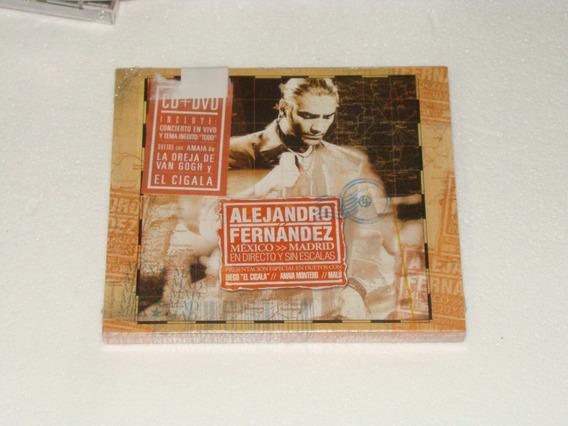 Alejandro Fernandez Directo Y Sin Escalas Dvd+cd Nuevo Kktus
