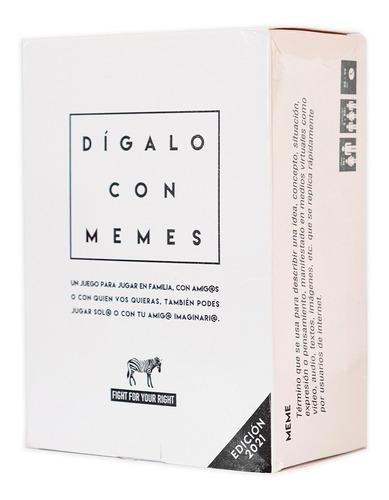 Imagen 1 de 9 de Juego De Cartas Dígalo Con Memes 2021 Fight For Your Right