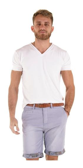 Bermudas Hombre Gabardina Elastizada De Vestir Importadas