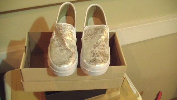 Zapatillas Panchitas Plateadas Nuevas
