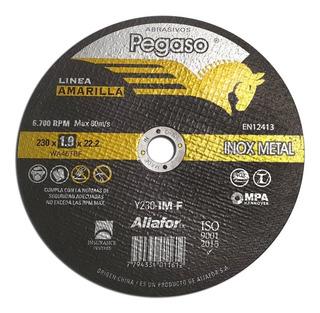 5 Disco De Corte 9 Pulgadas Metal Acero Para Sensitiva 230mm