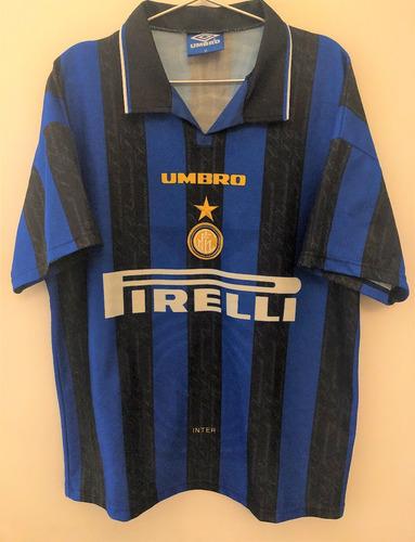Camisa Internazionale 1996/97 Zamorano #9 Raríssima