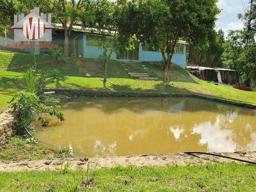 Imagem 1 de 30 de Linda Chácara Com Lago, Casa Nova, Arborizada, Lugar Maravilhoso Com 02 Dormitórios À Venda, 3000 M² Por R$ 400.000 - Zona Rural - Pinhalzinho/sp - Ch0578
