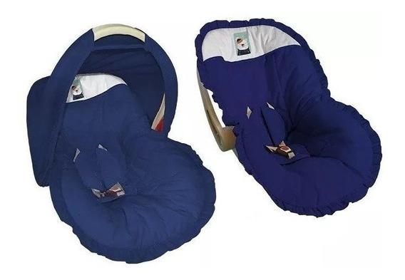 Capa Protetor Bebe Conforto Marinho Urso