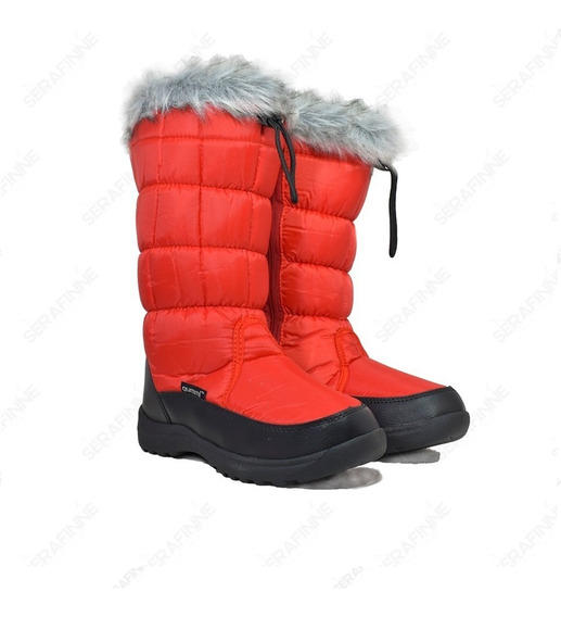 Bota Impermeable Pre Sky Nieve Lluvia Corderito Mujer Gummi Ur Winter