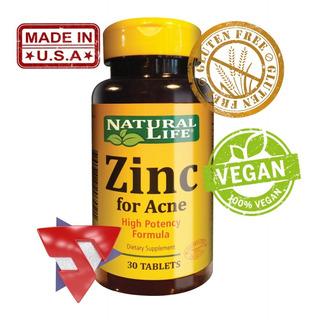 Natural Life Zinc For Acne X 30 Tabletas Good Natural