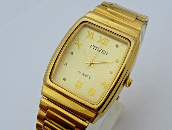 F1) Relógio De Pulso Citizen Banhado A Ouro Frete Grátis