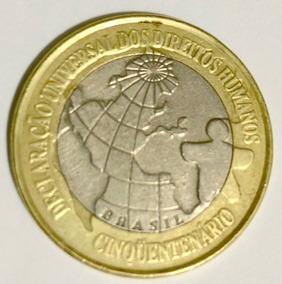 Moeda Do Brasil 1 Real Direitos Humanos 1998