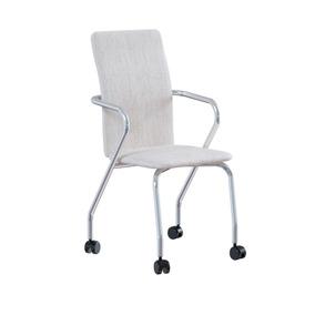 Cadeira De Escritório P-358 Aço Linho Búfalo Palha Brigatto