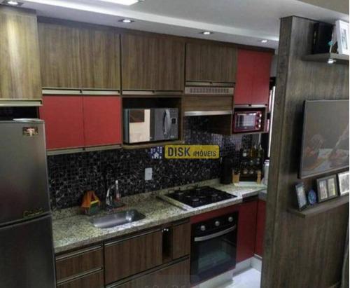 Imagem 1 de 13 de Apartamento Com 2 Dormitórios À Venda, 41 M² Por R$ 330.000 - Vila Valparaíso - Santo André/sp - Ap2200