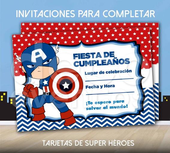 Tarjetas De Cumpleaños Virtuales De Capitan America Tarjeta