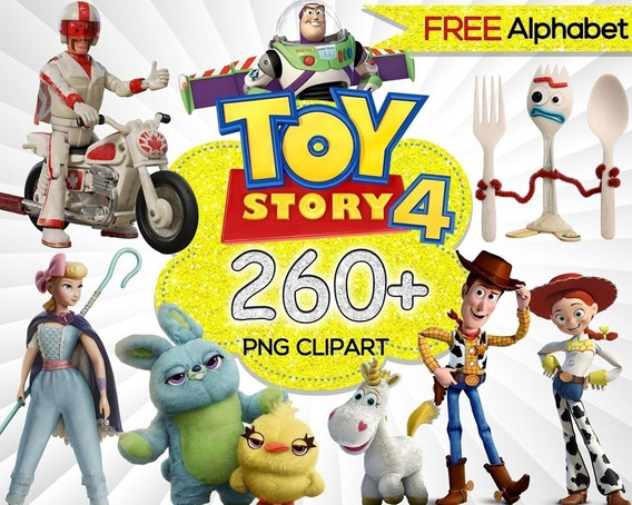 Kit Imprimible Toy Story 4 Png Letras Kdkt0062