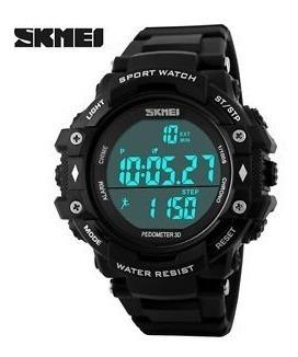 Reloj Skmei 1128 Podómetro Deporte Sport Hombres + Caja
