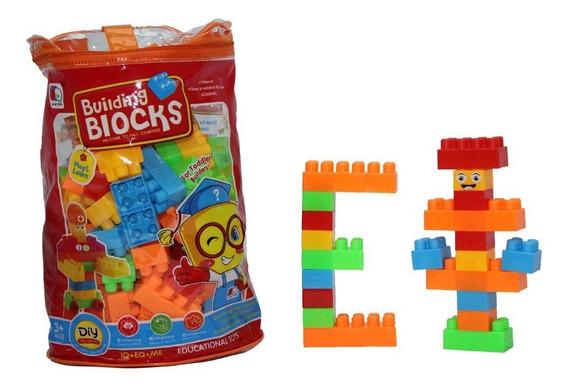 Mini Blocos De Montar Infantil Educativo 130 Peças Lego