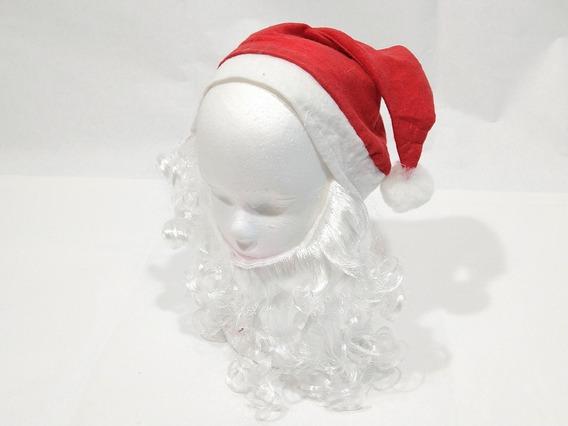 Gorro Papa Noel Con Barba Multicolor Navidad Pacho