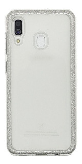 Funda Samsung M20 Tpu Diseño Glitter Plata