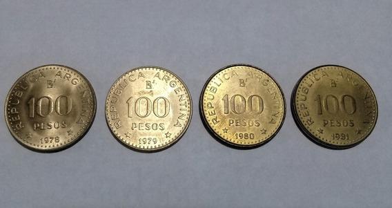 Moneda Argent(4lote ) 100 P Jose De San Martin 78//79/80/81