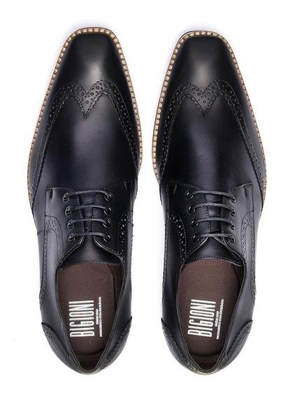 Sapato Brogue Bigioni Casual Solado Eva Estilo Italiano Masc