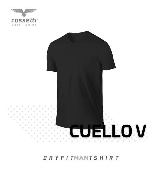 Playera Cuello V Cossetti Manga Corta Dry Fit Xl, 2xl, 3xl