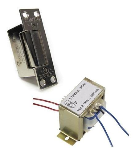 Kit Cerradura Electrica + Trafo P/ Portero Visor Abrepuerta