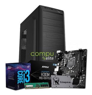 Pc Armado | Intel I3 8100 + H310 + 8gb + Ssd 240gb + Kit
