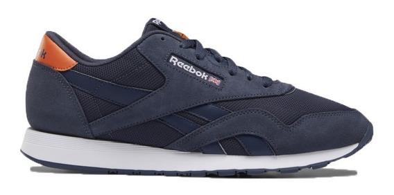 Tenis Reebok Classic Nylon Azul Gamuza Sneakers Oferta