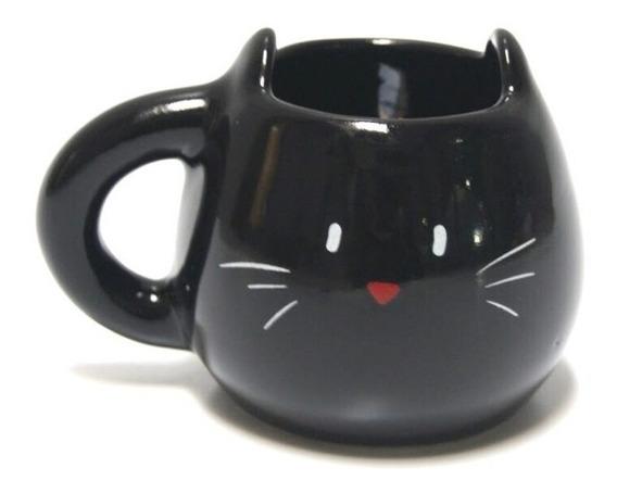 Acabajo Deco Taza Forma Gato (negro)
