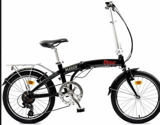 Bicicleta Olmo Pleggo Full Rodado 20, Con 7 Velocidades