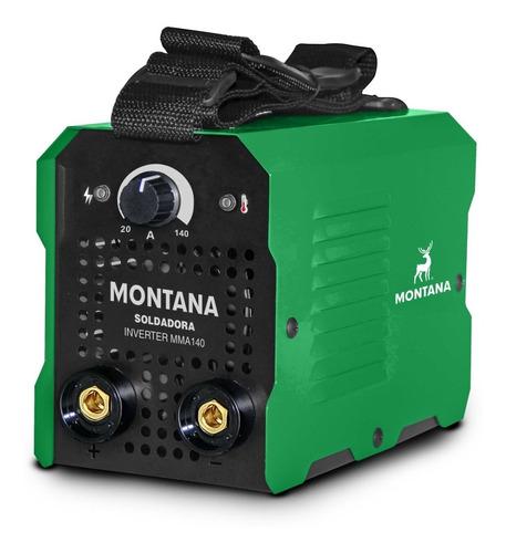 Imagen 1 de 3 de Soldadora Montana 140 Amp Montana - La Mejor Inverter