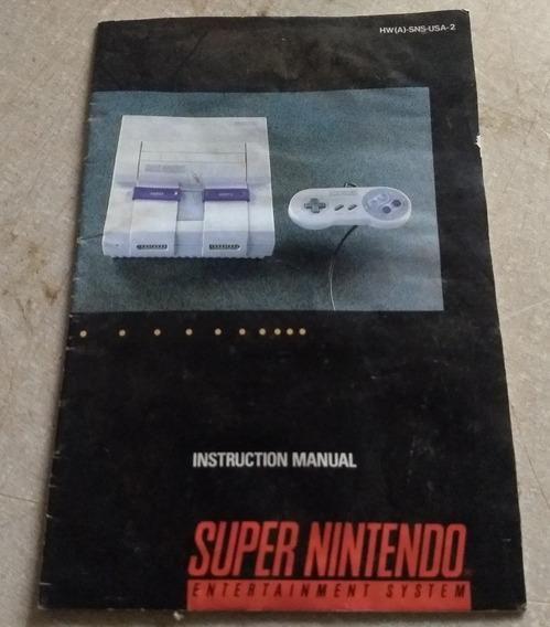 Manual Original Do Super Nintendo Americano Retro 1992