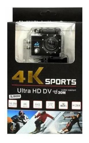 Câmera Sports 4k Ultra Hd Dv- Wifi Completa A Prova Dágua