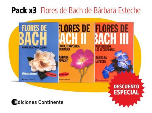 Pack 3 Libros Flores De Bach De Bárbara Espeche 20% De Dto