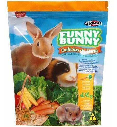 Funny Bunny Ração Delícias Da Horta - 1,8 Kg.