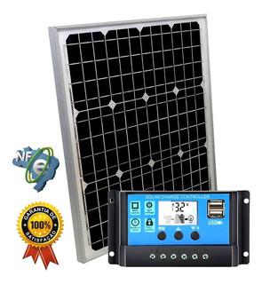 Kit Placa Painel Controlador Solar Sun Home M6-30 30w