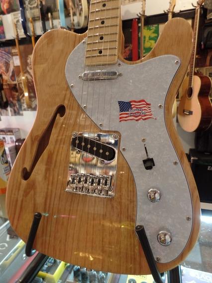 Guitarra Telecaster Thinline Sx Ftl/h Natural Semihollow Ash