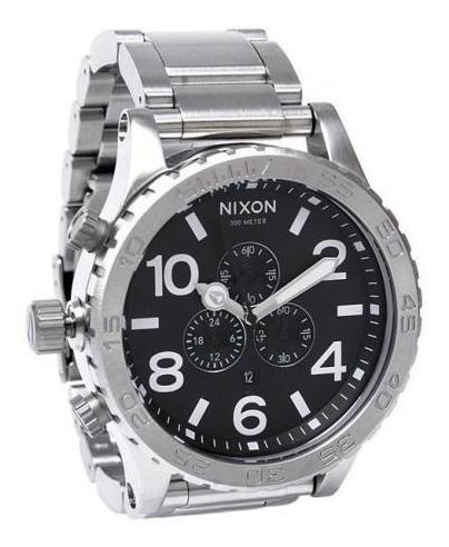 Relógio Vi1743 Nixon 51-30 Prata Lançamento 2019 + Caixa