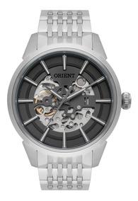 Relógio Orient Masculino Automático Nh7ss001 Esqueleto Aço
