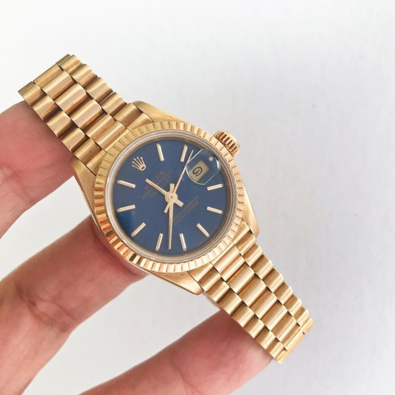 Rolex Lady-datejust Presidente Ouro Amarelo