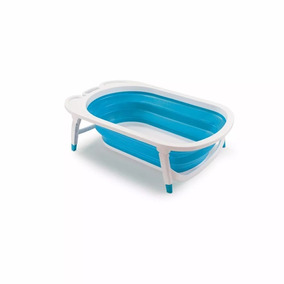 Banheira Dobrável Flexi Bath Azul (menino) - Multikids