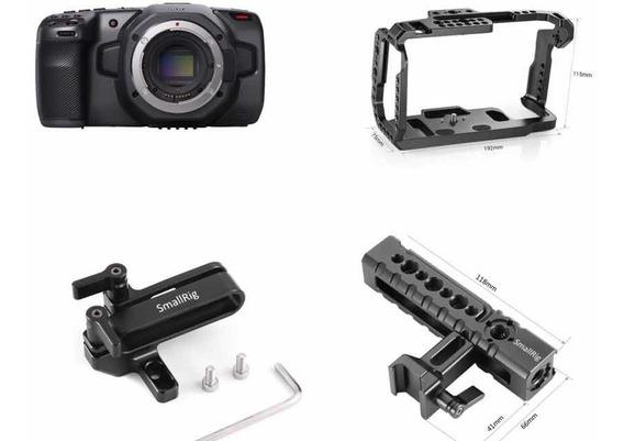 Blackmagic Pocket 6k Kit - Cage Smallrig - Sdd - Câmera Top