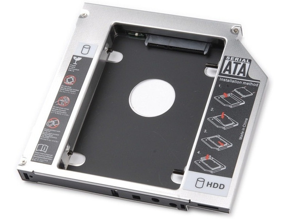 Adaptador Dvd P/ Hd Ou Ssd Notebook Drive Caddy 12,7mm Sata