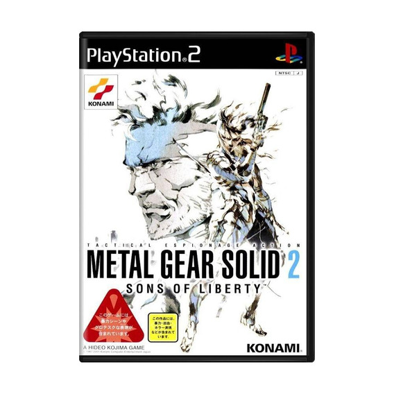 Metal Gear Solid 2 Sons Of Liberty Ps2 Japonês Mídia Física