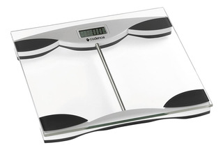 Balança corporal digital Cadence BAL150 preta e prateada