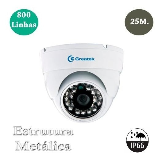 Câmera De Segurança Residencial Greatek Interna/externa