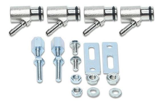 Kit 4 Adaptadores De Bico Rampa Flauta Gnv 1 Oring Longo 6mm