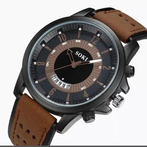 Relógio Masculino Soki Militar Com Calendário (cod. 00028)