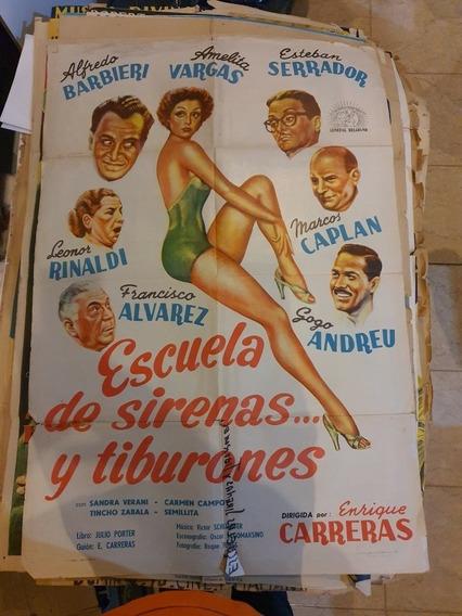 3 Antiguos Afiches De Cine Originales- Lote De 3-Oferta 72