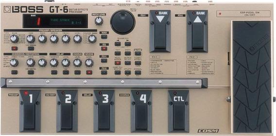 Boss Gt-6 Procesador De Efectos De Guitarra - Pedalera